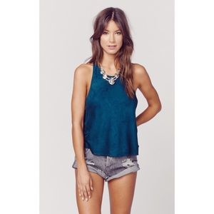 Blue Life NWT love blue suede tank top Planet Blue